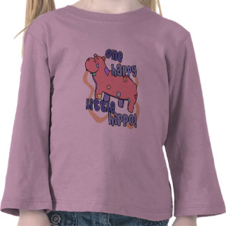 One Happy Hippo Child s Long Sleeve Shirt