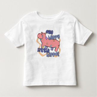 One Happy Hippo Toddler Ringer T-Shirt