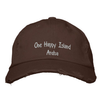 One Happy Island Aruba Embroidered Baseball Cap