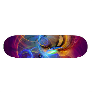 One Happy Morning - colorful digital abstract art Skateboard Decks