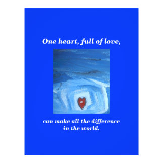 ONE HEART / DIFFERENCE 21.5 CM X 28 CM FLYER