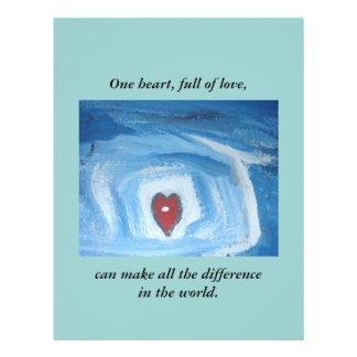 ONE HEART / GRANT ME WISDOM 21.5 CM X 28 CM FLYER
