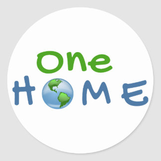 One Home Earth Day Sticker
