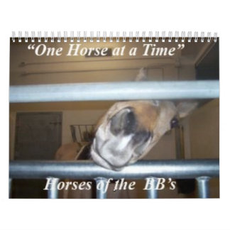 One Horse at a Time Calendar