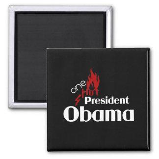 One Hot President Obama Square Magnet