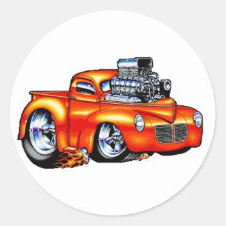 One Hot Truck Round Sticker