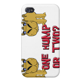 One Hump or Two Schnozzle Camel Cartoon iPhone 4 Covers