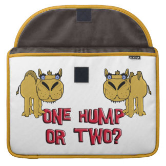 One Hump or Two Schnozzle Camel Cartoon Sleeve For MacBooks
