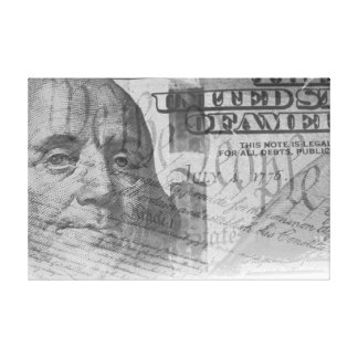 One hundred dollar bill and US constitution Canvas Prints
