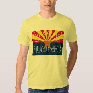 ONE HUNDRED over flag T-shirt