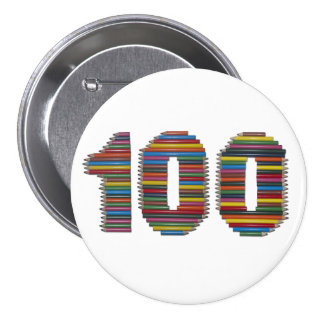 One Hundred Pencils Buttons