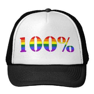 """One Hundred Percent"" GLBT Pride Hat"