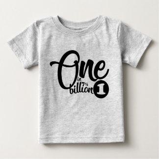 one in (7.5) billion baby birthday tee