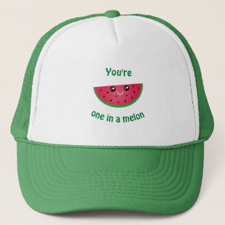 One In A Melon Funny Cute Kawaii Watermelon Trucker Hat