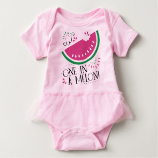 One in a Melon - Watermelon Bodysuit