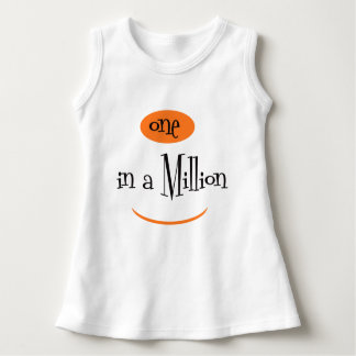ONE IN A MILLION CARTOON CUTE Baby Sleeveless Dress