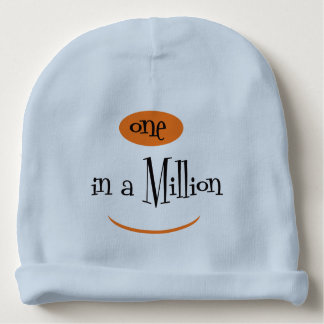 ONE IN A MILLION Cotton Beanie Light Blue Baby Beanie