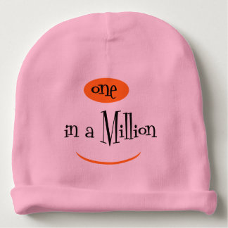 ONE IN A MILLION Cotton Beanie Pink Baby Beanie