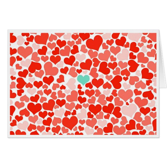 One in a Million Red Hearts Valentine Card