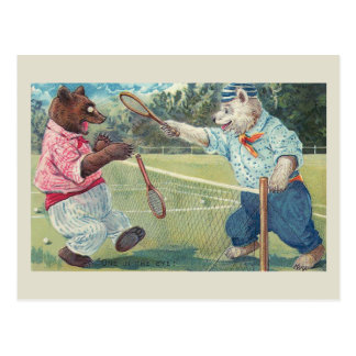 """One in the Eye"" Vintage Bear Postcard"