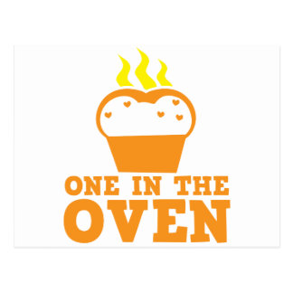 one in the oven postcard