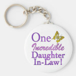 One Incredible Daughter-In-Law Basic Round Button Key Ring