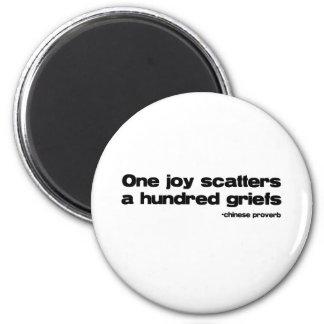 One Joy Quote 6 Cm Round Magnet