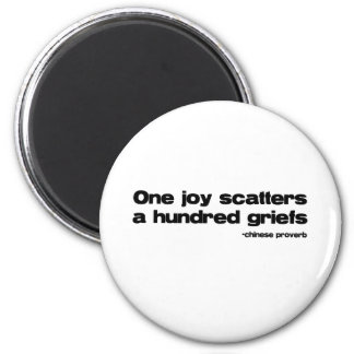 One Joy Quote Refrigerator Magnets