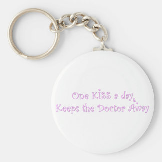 One KISS a Day Basic Round Button Key Ring