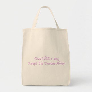 One KISS a Day Grocery Tote Bag