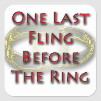 One last fling before the ring sticker