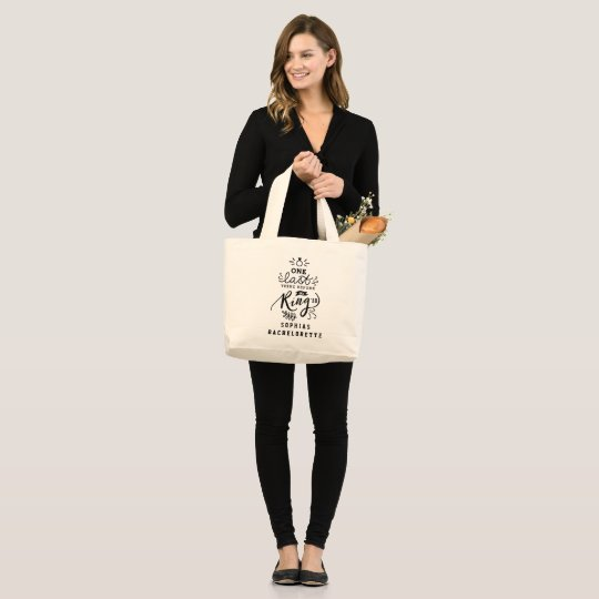 ONE LAST THING BEFORE THE RING LARGE TOTE BAG