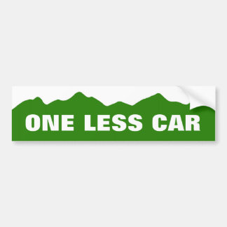 One Less Car Bumper Sticker