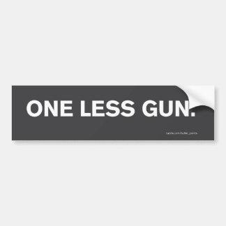 """""""One Less Gun."""" Bumper Sticker"""