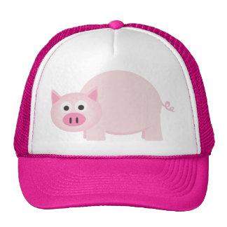 One Little Pig in Pink Trucker Hat