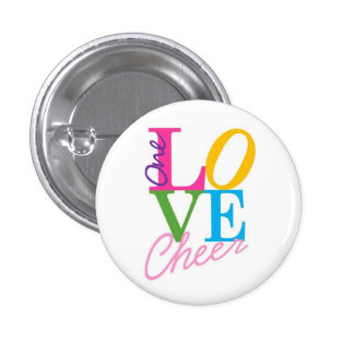 One Love Cheer 3 Cm Round Badge