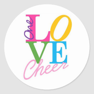 One Love Cheer Classic Round Sticker