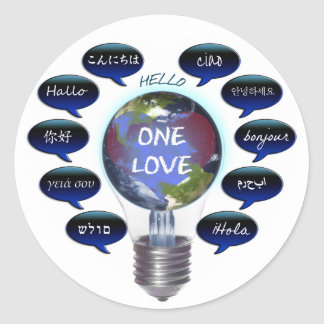 One Love Classic Round Sticker
