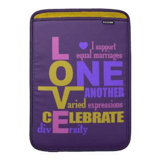 "One Love custom 13"" MacBook sleeve"