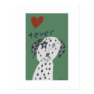 One love - Dalmatiër Post Card