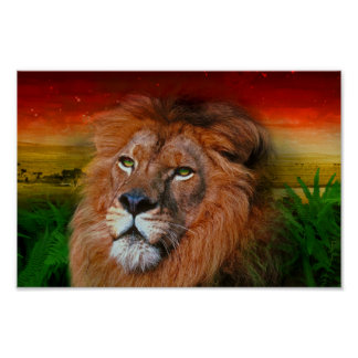 One Love Lion II - Poster Print