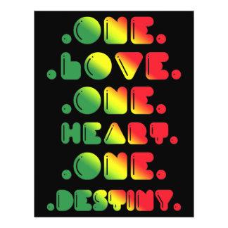 ONE LOVE, ONE HEART, ONE DESTINY. 21.5 CM X 28 CM FLYER