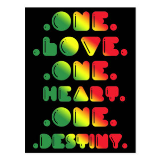 ONE LOVE, ONE HEART, ONE DESTINY. POSTCARD