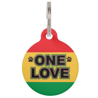One Love Pet ID Tag