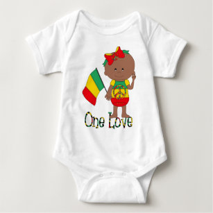 One Love Rasta Baby African American Baby Bodysuit