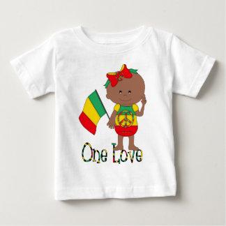 One Love Rasta Baby African American Baby T-Shirt