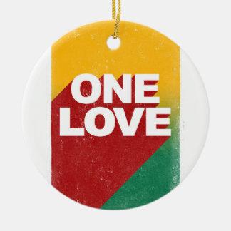 One love rasta christmas ornament