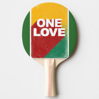 One love rasta ping pong paddle