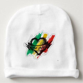one love rasta reggae graffiti flag baby beanie