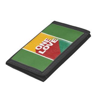 One love rasta tri-fold wallet